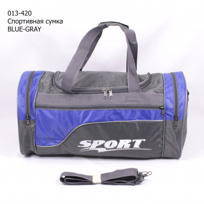013-420 Спортивная сумка BLUE-GRAY