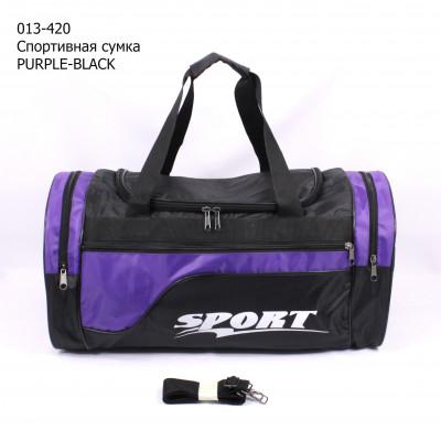013-420 Спортивная сумка PURPLE-BLACK