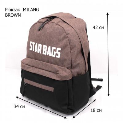 MILANG  STARBAGS-2 BROWN/BLACK